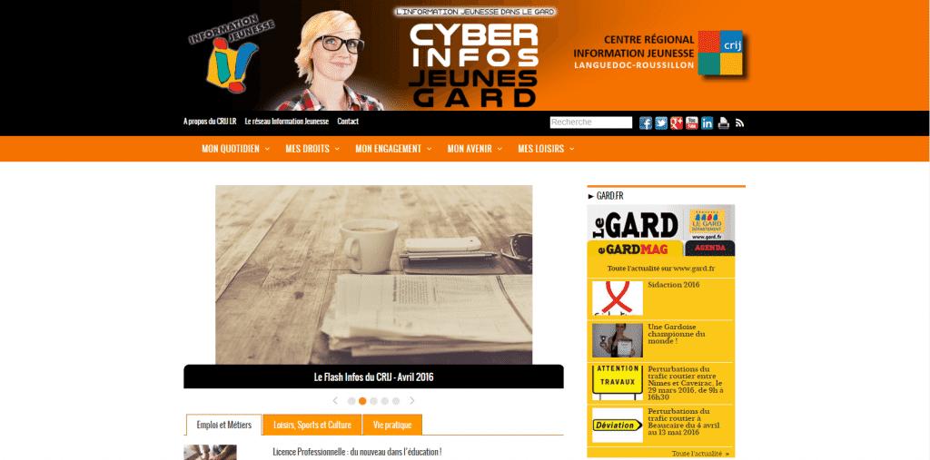 Site web : Cyber Infos Jeunes Gard