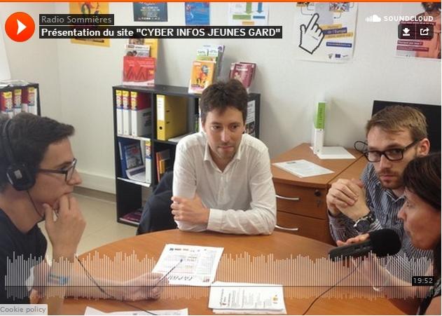 Interview par Radio Sommières sur le Cyber Infos Jeunes Gard