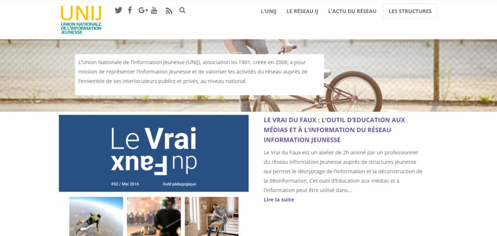 Site web : Union Nationale de l'Information Jeunesse (UNIJ)