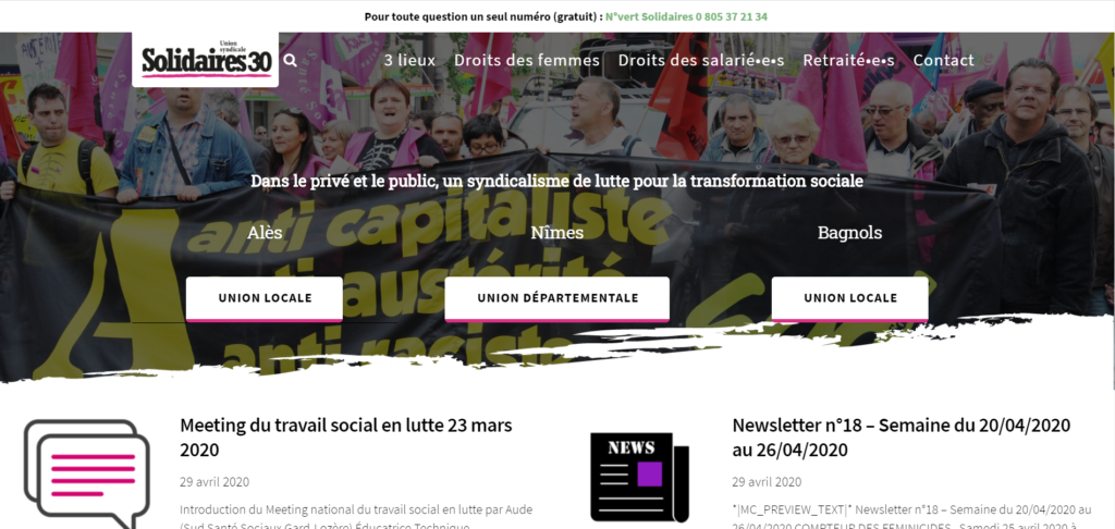 Site web : Solidaires 30
