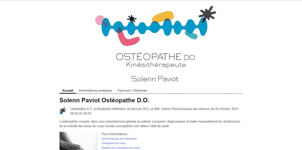 Site web : Osthéopathie [Cloturé]