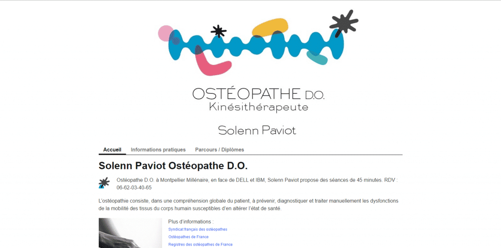 Site web : Osthéopathie