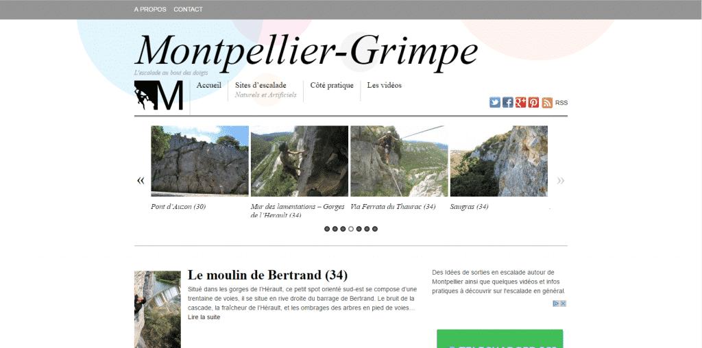 Site Web Montpellier-Grimpe.fr