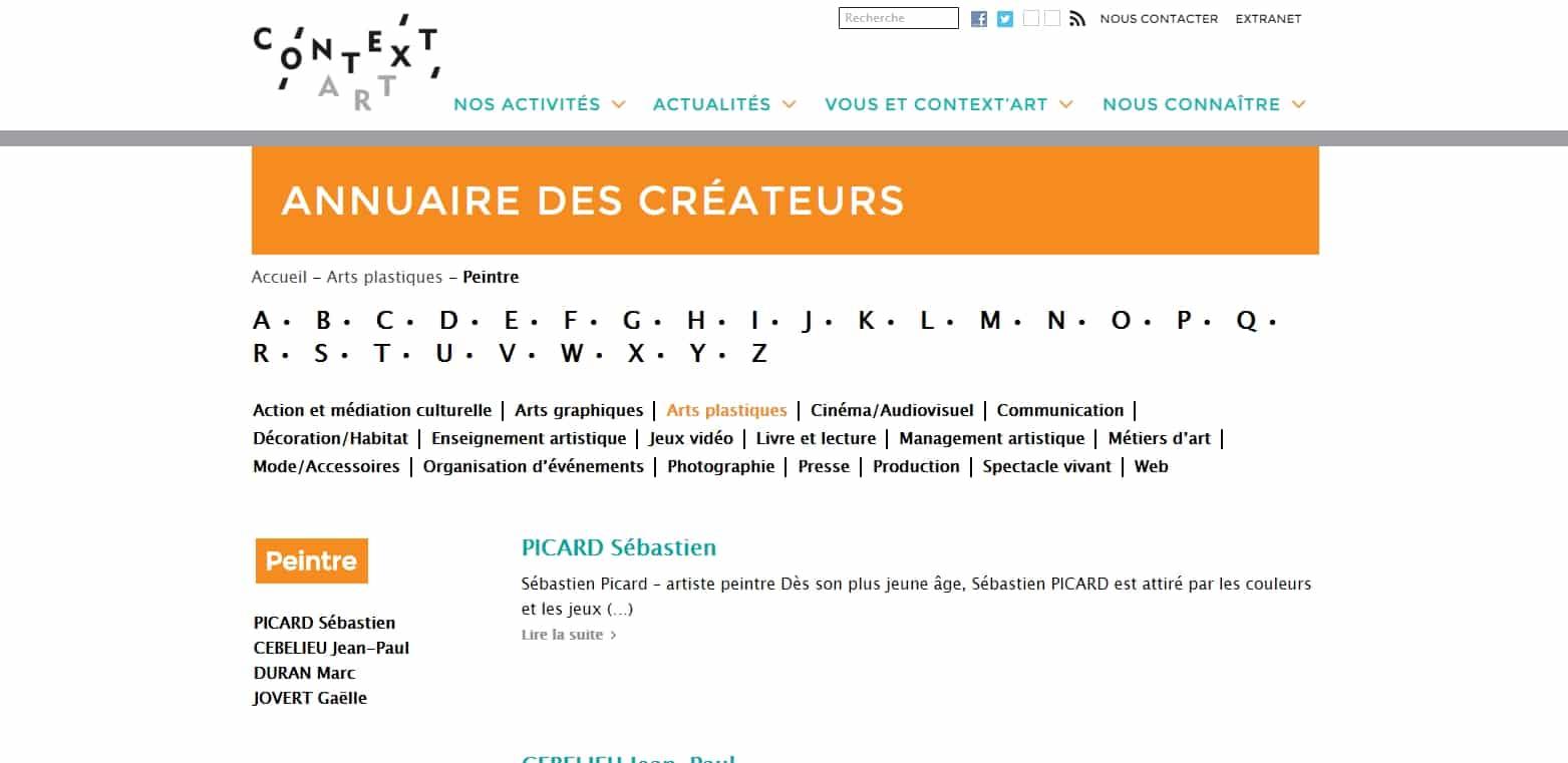 Annuaire des créateurs