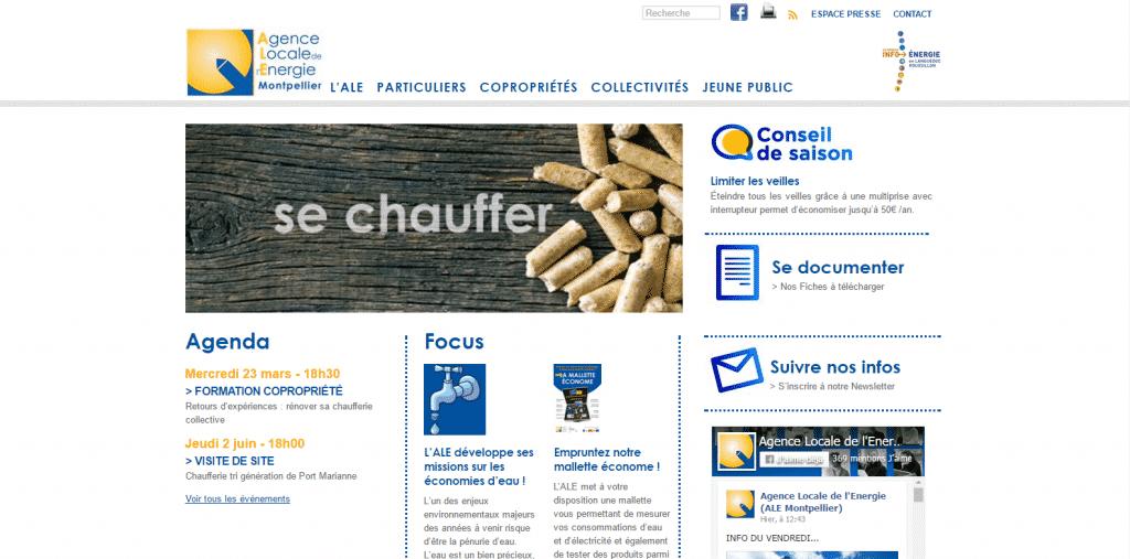 Site web : Agence Locale de l'Energie de Montpellier