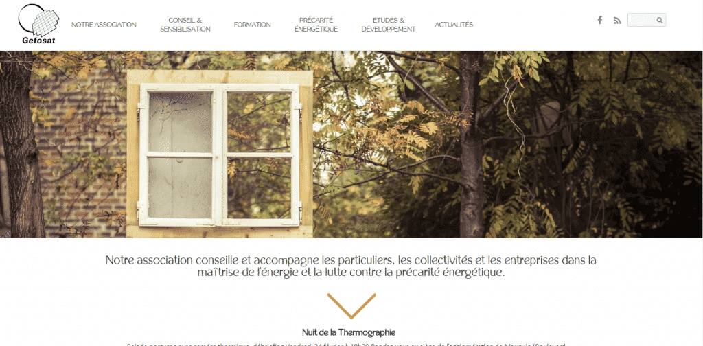 Refonte du site web : Gefosat