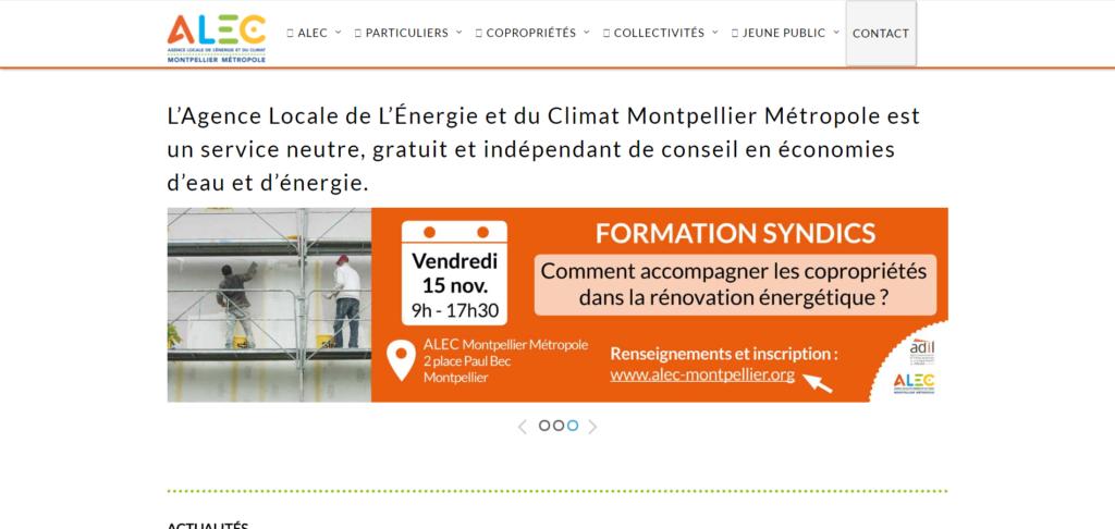 Refonte de site web : Agence Locale de l'Energie et du Climat